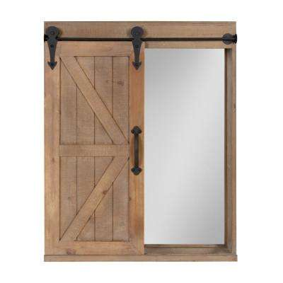 Cates Rectangle Rustic Brown Accent Mirror