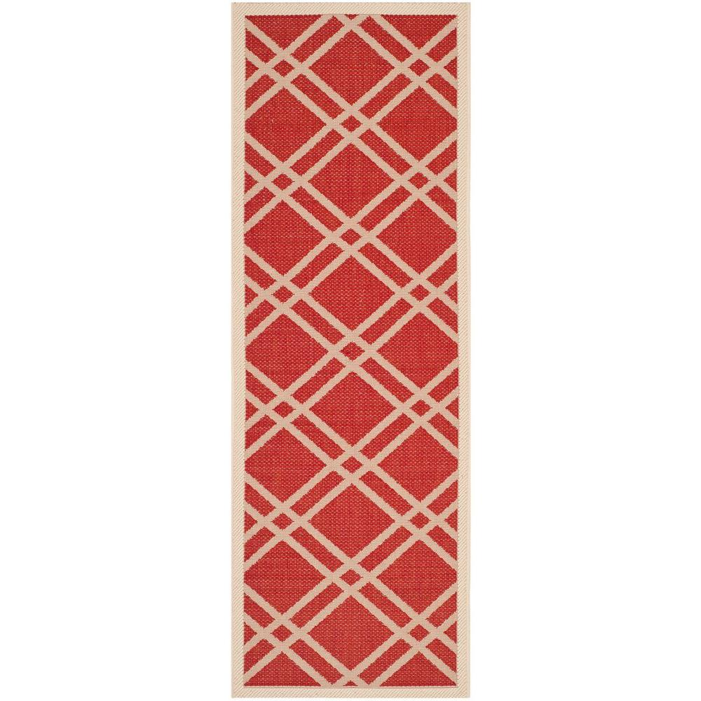 Courtyard Red/Bone 2 ft. 3 in. x 6 ft. 7 in.