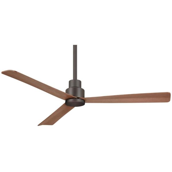 Simple 52 in. Indoor/Outdoor Oil Rubbed Bronze Ceiling Fan with Remote Control