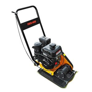 Power King 24.5 inch x 16.5 inch 6 HP Plate Compactor with Rubber Pad and Movement Trolley by Power King