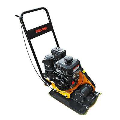24.5 in. x 16.5 in. 6 HP Plate Compactor with Rubber Pad and Movement Trolley