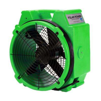 PB-25 1/4 Polar Axial Blower Fan High Velocity Air Mover for Water Damage Restoration, Green