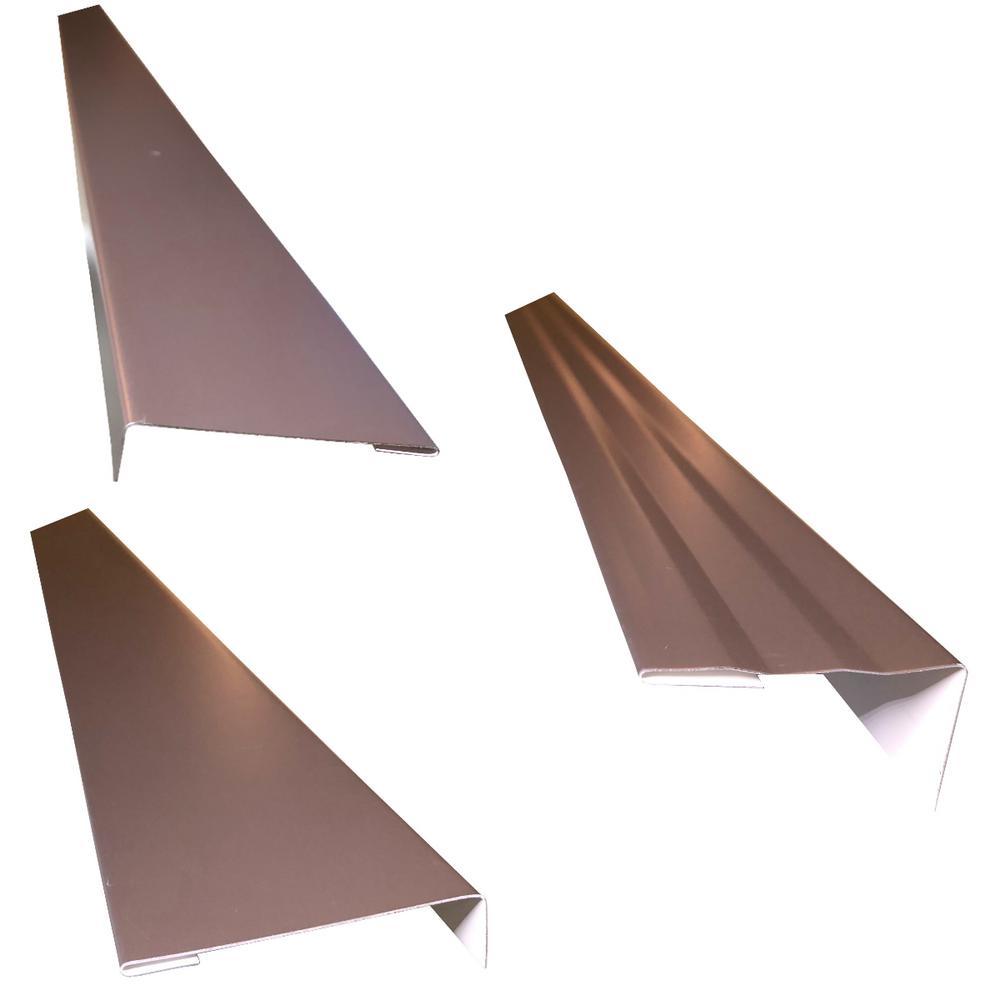 2.5 in.x2.25 in.x85 in. Complete Aluminum Metal Brickmold--Jamb Door Trim Cover Kit-72 in. Door w/ Brick, Dark Bronze
