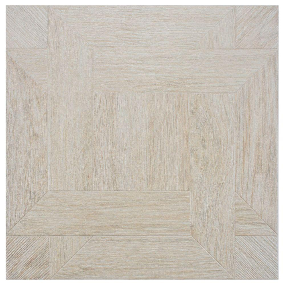 Merola Tile Bosco Blanco 17-3/4 in. x 17-3/4 in. Ceramic Floor and Wall Tile (11 sq. ft. / case)-DISCONTINUED