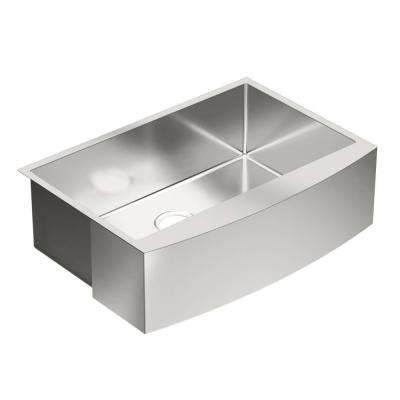 1800 Series Apron Front Stainless Steel 30 in. Single Bowl Kitchen Sink