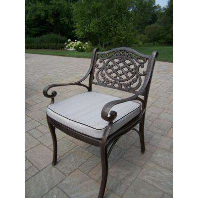 Mississippi Aluminum Outdoor Dining Chair with Tan Cushion