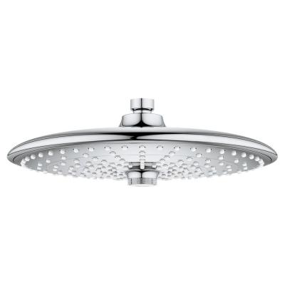 Euphoria 3-Spray 10 in. Single Ceiling Mount  Fixed Rain Shower Head in Starlight Chrome