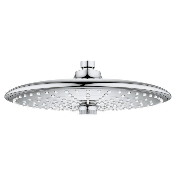 Grohe Euphoria 3 Spray 10 In Single Ceiling Mount Fixed Rain Shower Head In Starlight Chrome 26457000 The Home Depot