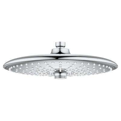 Euphoria 260 3-Spray 10 in. Fixed Showerhead with 2.5 GPM in StarLight Chrome