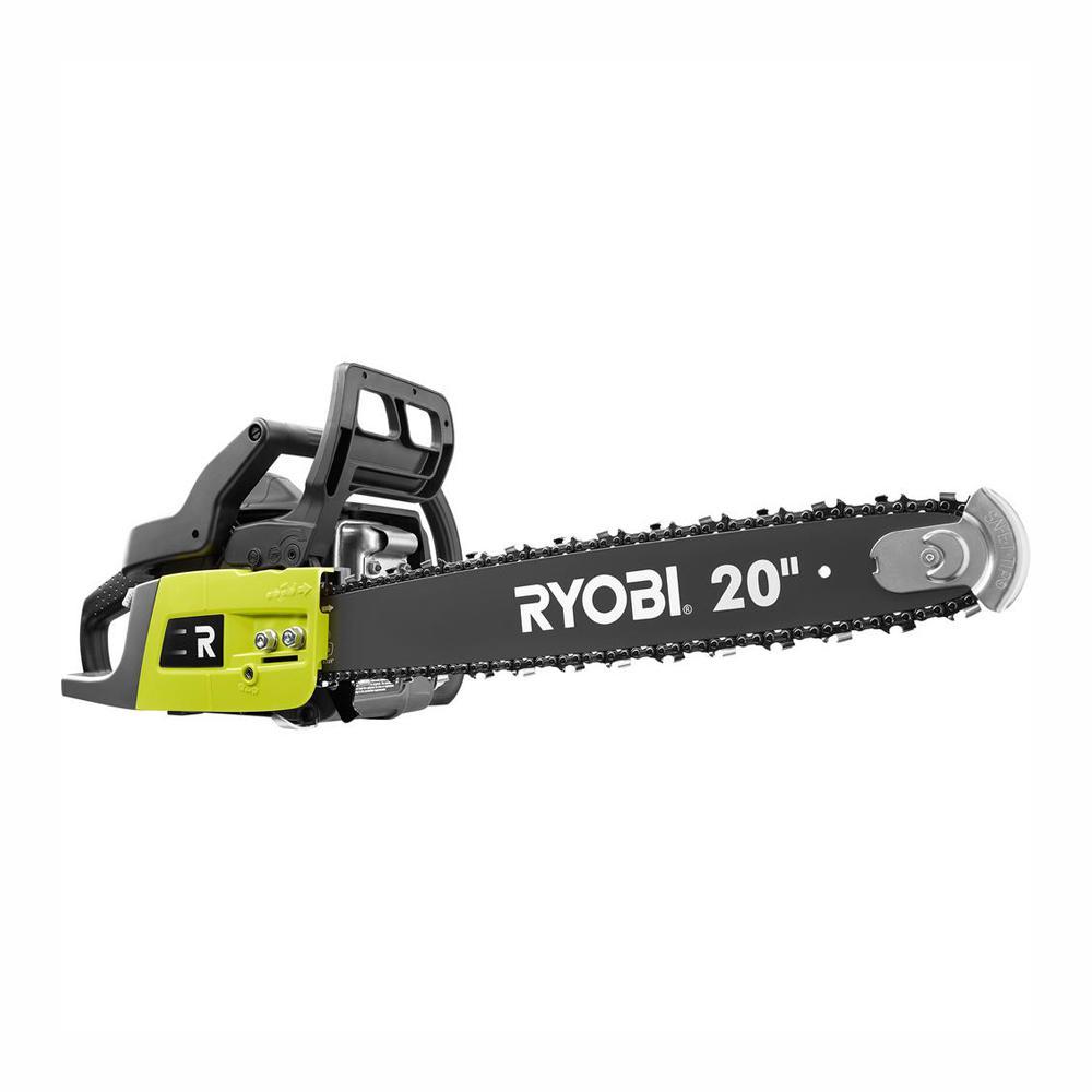 RYOBI 20 in. 50 cc 2-Cycle Gas Chainsaw with Heavy-Duty Case