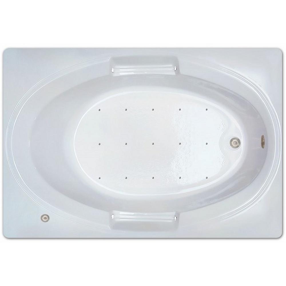 Pinnacle 5 ft. Left Drain Drop-in Rectangular Whirlpool and Air Bath ...