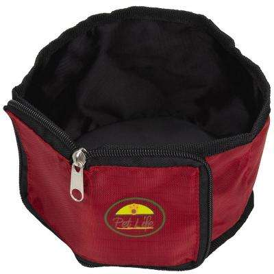 Red Wallet Travel Pet Bowl