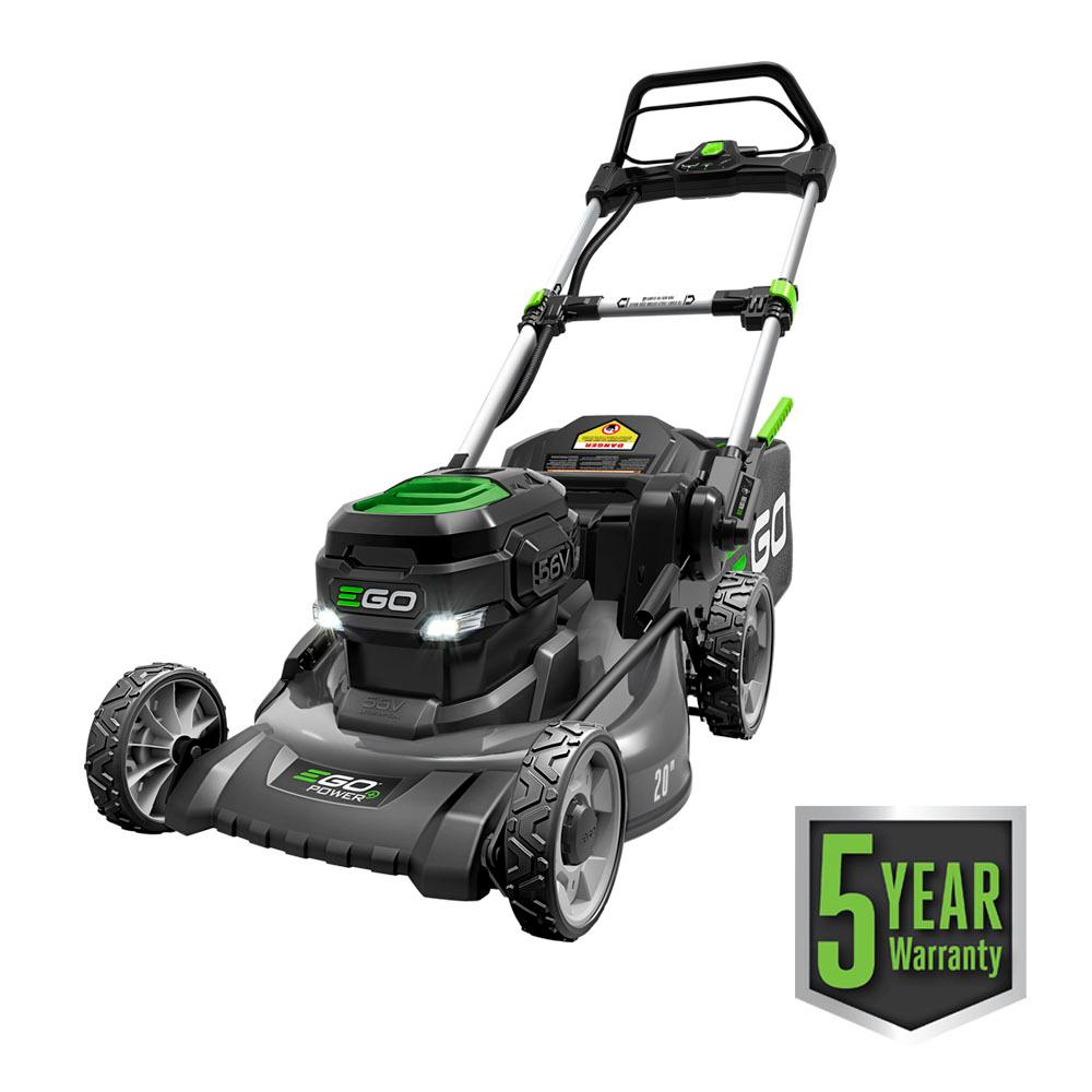EGO 20 in. 56-Volt Lithium-ion Electric (Brushless) Walk Behind Steel Deck Push Mower - 5.0 Ah Battery/Charger Included
