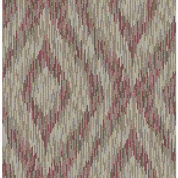 A-Street 56.4 sq. ft. Ethereal Red Ogee Wallpaper 2763-24220