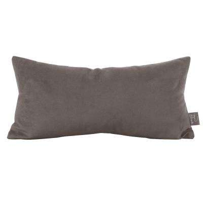 Bella Gray Pewter Kidney Decorative Pillow