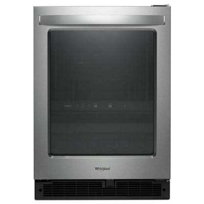 24 in. W 5.8 cu. ft. Dual Zone 12-Bottle Wine Cooler and Beverage Center in Stainless Steel