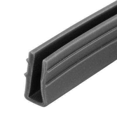 0.18 in. x 200 ft. Gray Vinyl Glass Glazing Channel