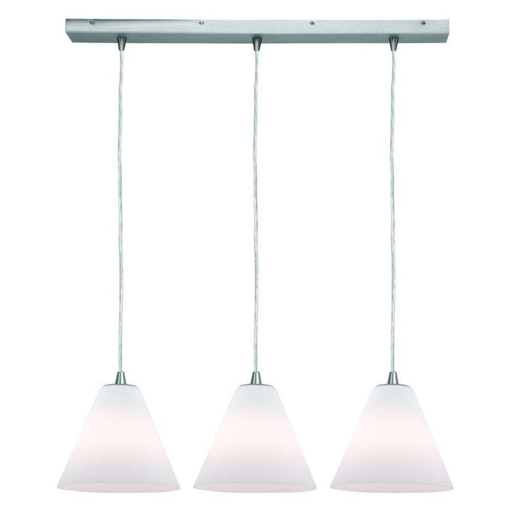 Access Lighting 3-Light Pendant Oil Rubbed Bronze Finish White Glass-DISCONTINUED
