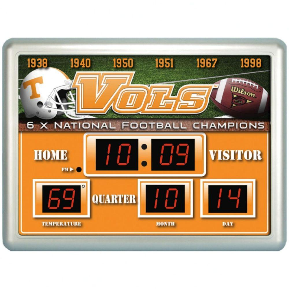 null University of Tennessee 14 in. x 19 in. Scoreboard Clock with Temperature