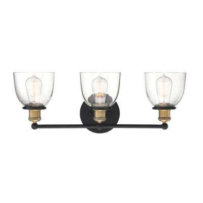 Bryson 3-Light Vintage Bronze Bath Bar Vanity Light