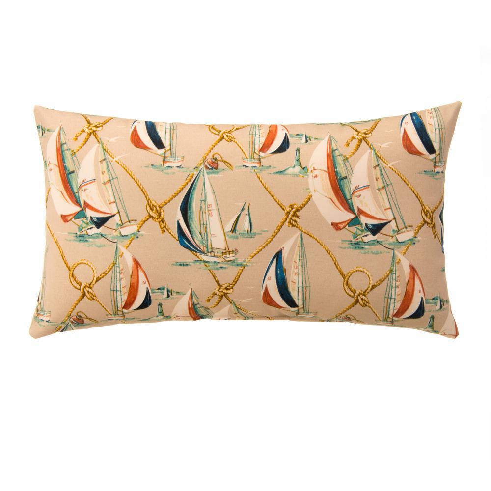 Regatta Rectangular Outdoor Lumbar Throw Pillow