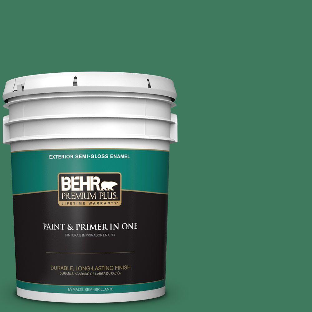 5-gal. #470D-6 Greenbelt Semi-Gloss Enamel Exterior Paint