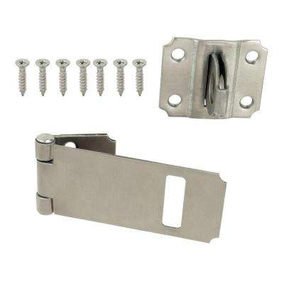 3-1/2 in. Stainless Steel Adjustable Staple Safety Hasp