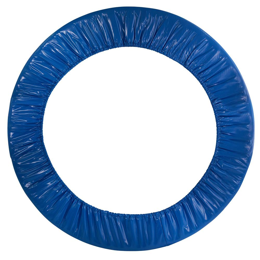 Upper Bounce 8 Foot Super Trampoline Safety Pad Spring: Upper Bounce 36 In. Round Blue Safety Pad Spring Cover For