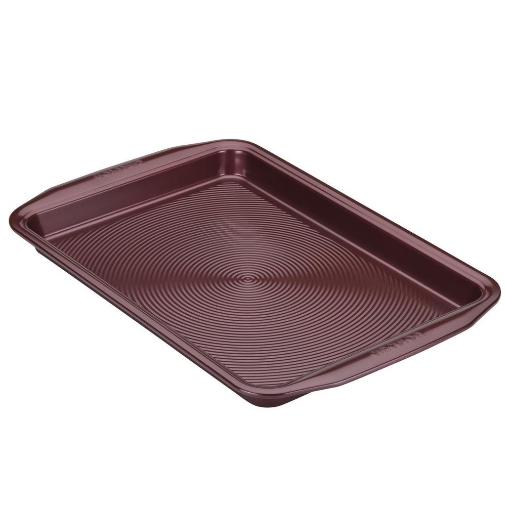 Bakeware Nonstick Cookie Pan, 10-Inch x 15-Inch, Merlot