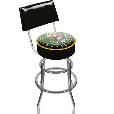 U.S. Army Symbol 30 in. Chrome Padded Swivel Bar Stool