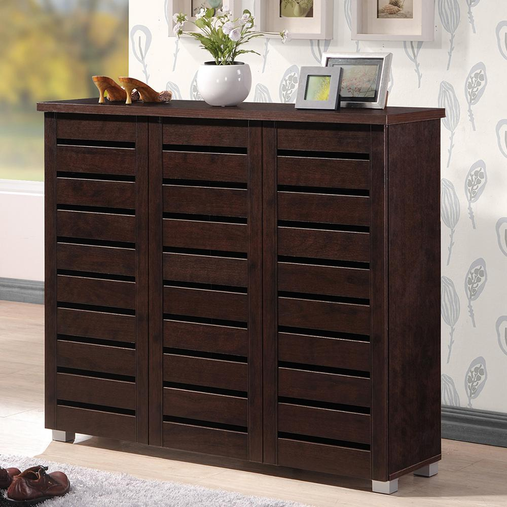 Adalwin Dark Brown Storage Cabinet