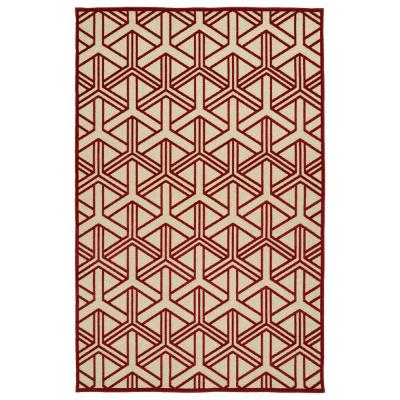 Kaleen Five Seasons Red 9 ft. x 12 ft. Indoor/Outdoor Area Rug
