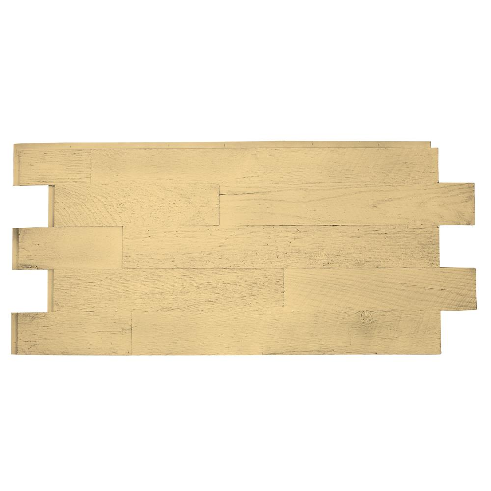 Faux Barnwood Panel 1-1/4 in. x 52-1/4 in. x 23 in. Unfinished Polyurethane Interlocking Panel