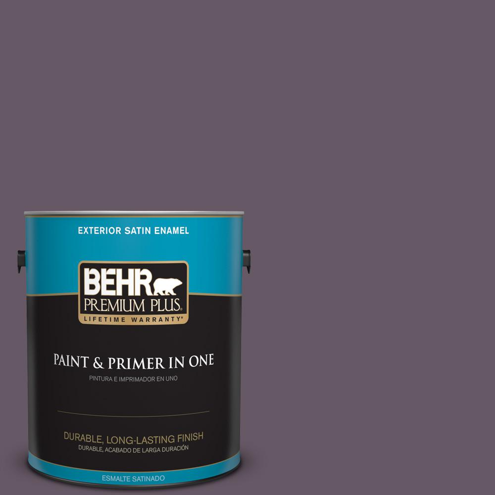 1 gal. #PPU17-05 Preservation Plum Satin Enamel Exterior Paint