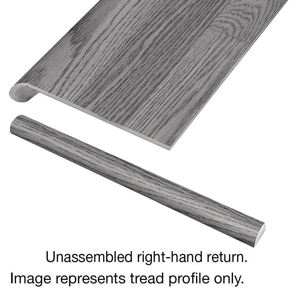 Grey Wood Tile 94 in. Long x 12-1/8 in. Deep x