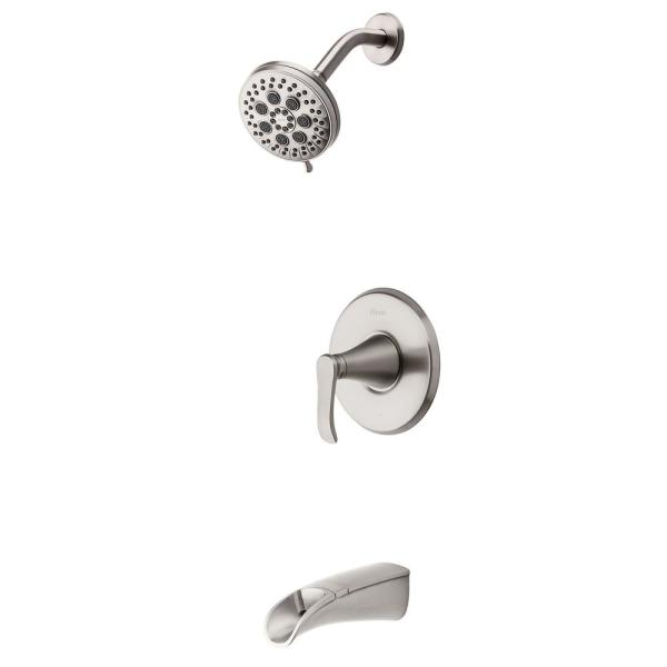 Jaida Single-Handle 4-Spray Tub and Shower Faucet w/ Restore Technology in Spot Defense Brushed Nickel (Valve Included)