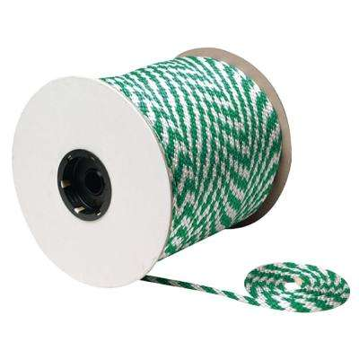 3/8 in. x 500 ft. Solid Braid MFP Multi-Purpose Derby Rope Spool, Green/White