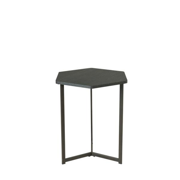 Homestar Hexagon Black Oak Side Table Z1710264