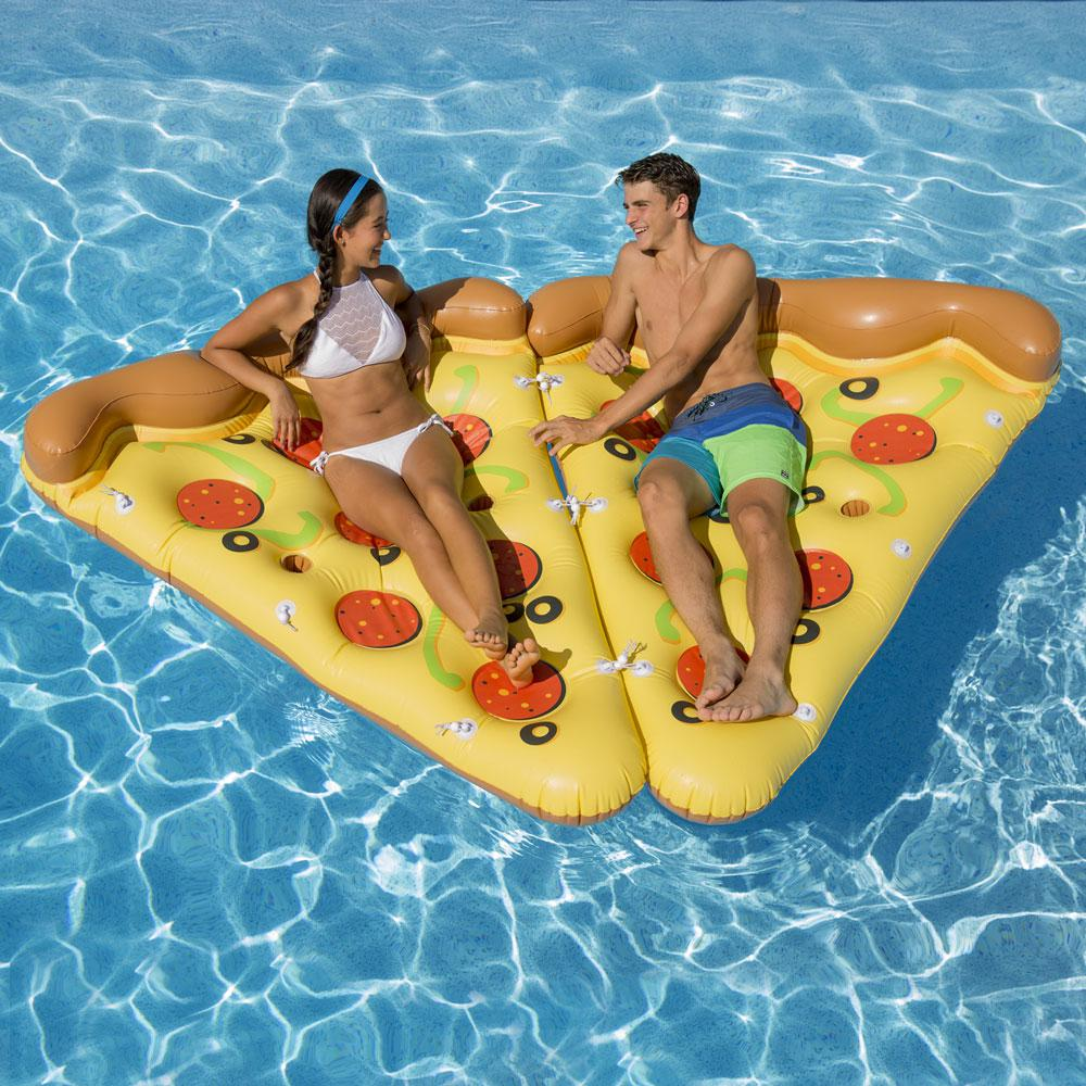 Deluxe Pizza Slice (2-Pack) Pool Float
