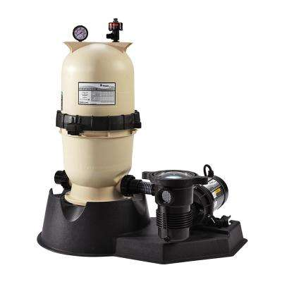 75 sq. ft. Clean and Clear Filter System with 1 HP OptiFlo Pump