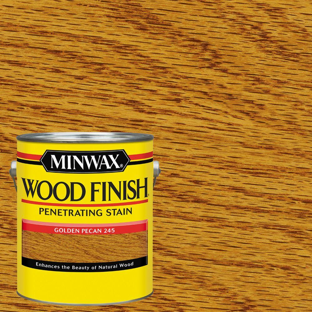 1 gal. Wood Finish Golden Pecan Oil Based Interior Stain (2-Pack)