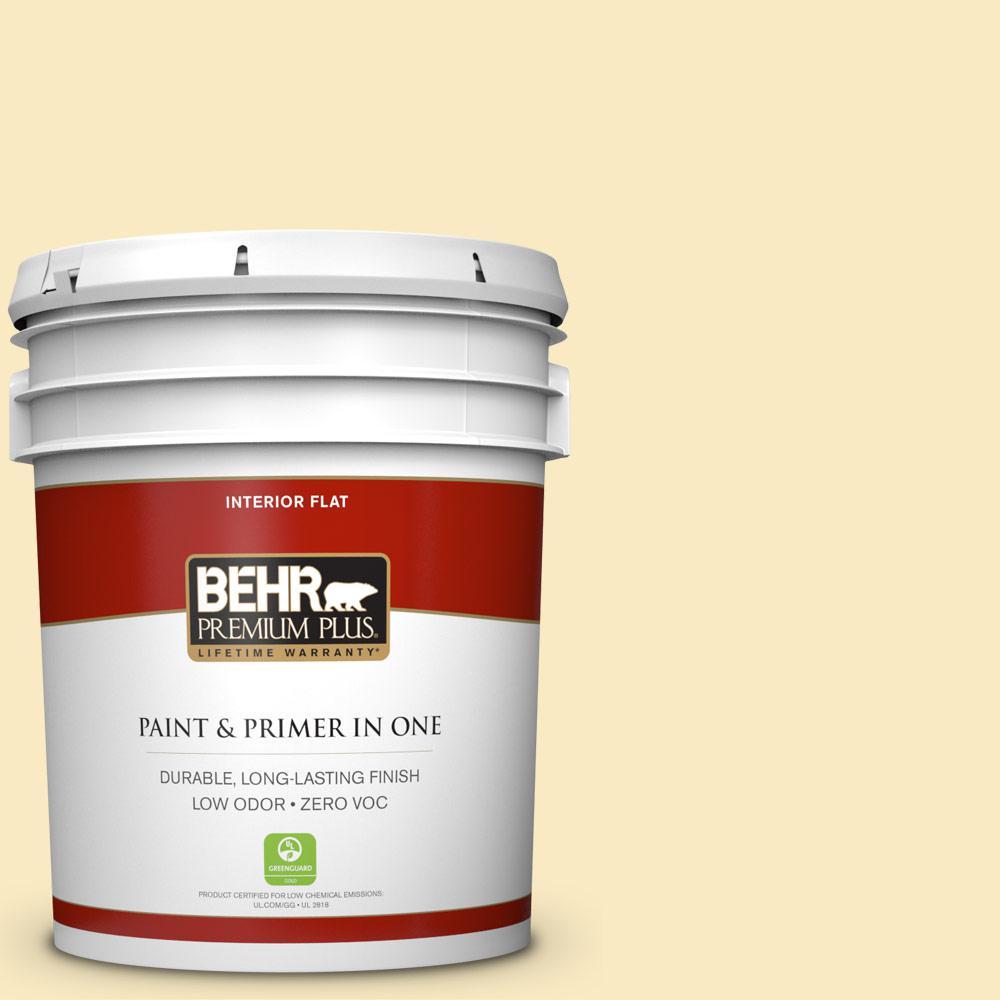 5 gal. #340A-2 Rich Cream Flat Zero VOC Interior Paint and