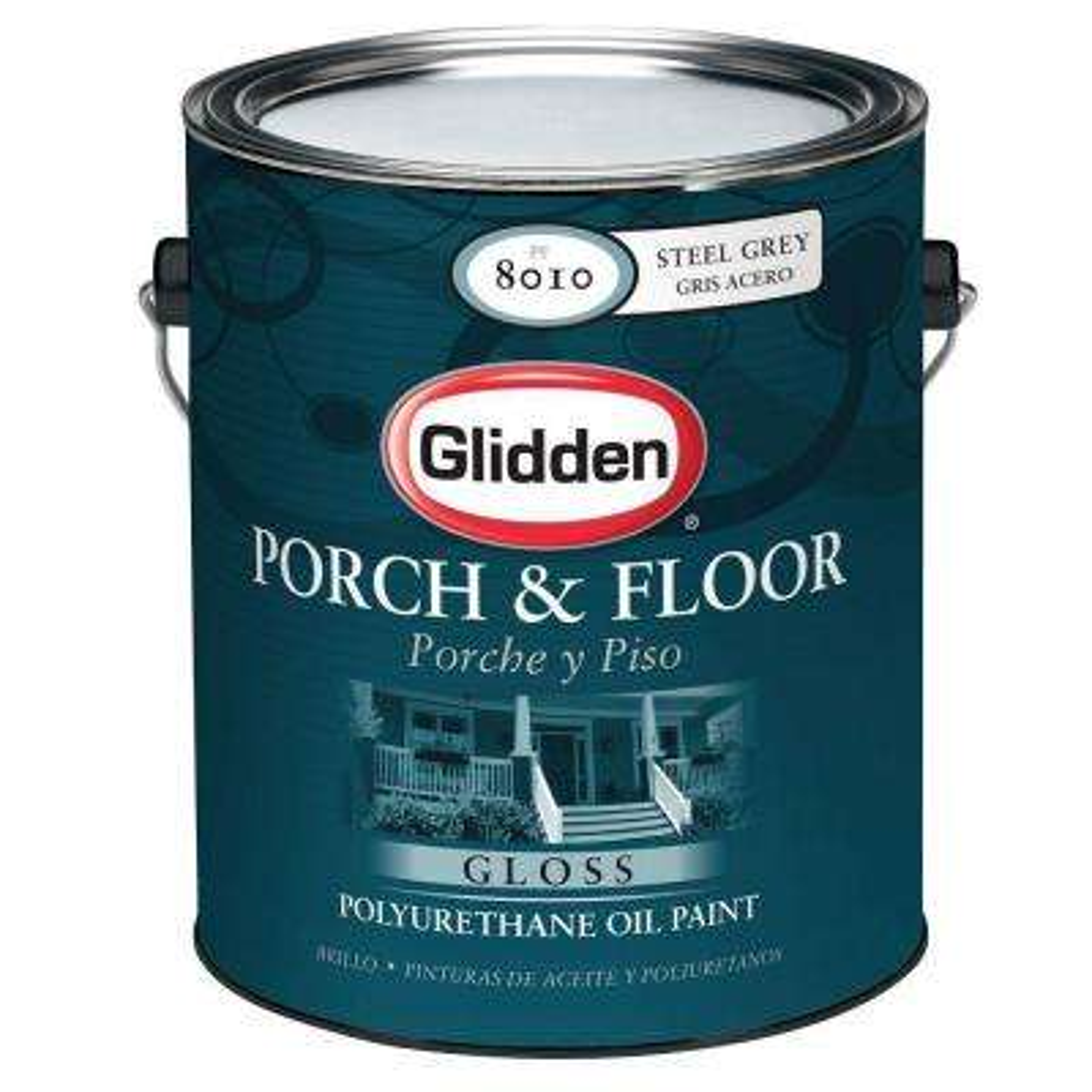 1 Gal. Steel-Gray Gloss Interior/Exterior Polyurethane Oil Paint