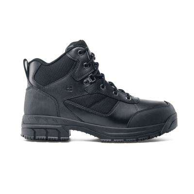 Voyager II Unisex Size 13M Black Leather Slip-Resistant Work Boot
