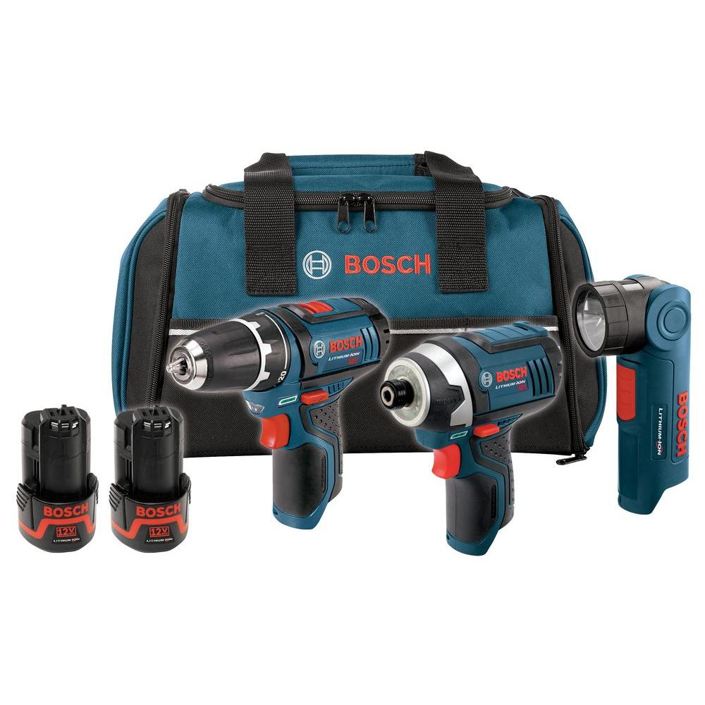 Bosch 12-Volt Max Lithium-Ion Combo Kit (3-Tool)