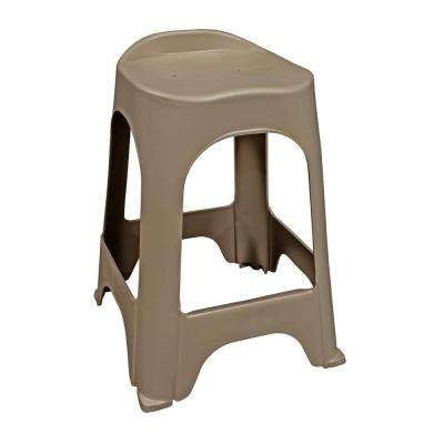 24 in. RealComfort Portobello Resin Outdoor Bar stool (Set of 2)