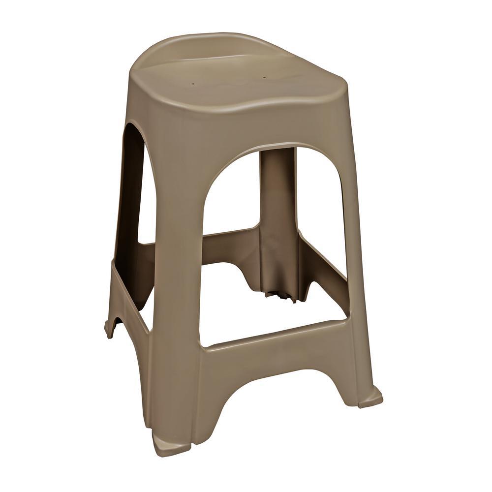 24 in. RealComfort Portobello Resin Outdoor Bar stool (Set of 2)