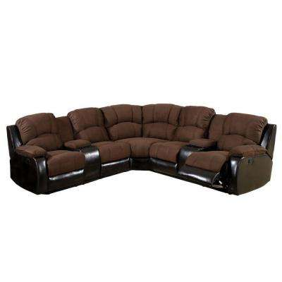Wolcott Brown Elephant Skin Microfiber Sectional