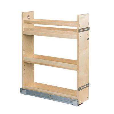 5-1/2 in. W Baltic Birch Plywood Base Cabinet Pull-Out Organizer