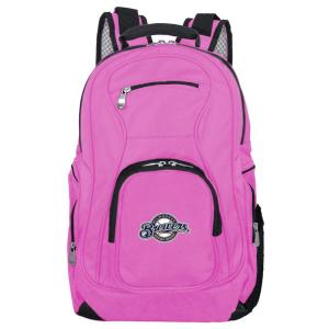 MLB Milwaukee Brewers 19 in. Pink Laptop Backpack